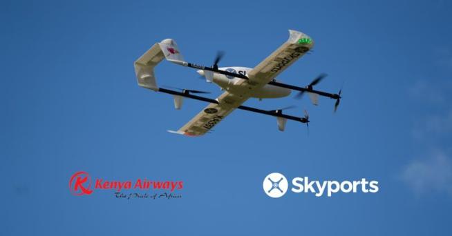 Kenya Airways et Skyports lancent un service de livraison par drone au Kenya