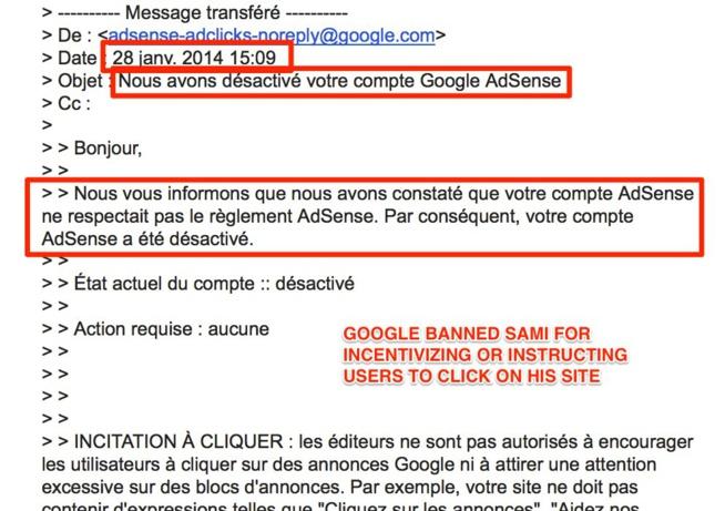 Google refuse de payer 46.000 dollars de revenus Adsense à un jeune entrepreneur marocain