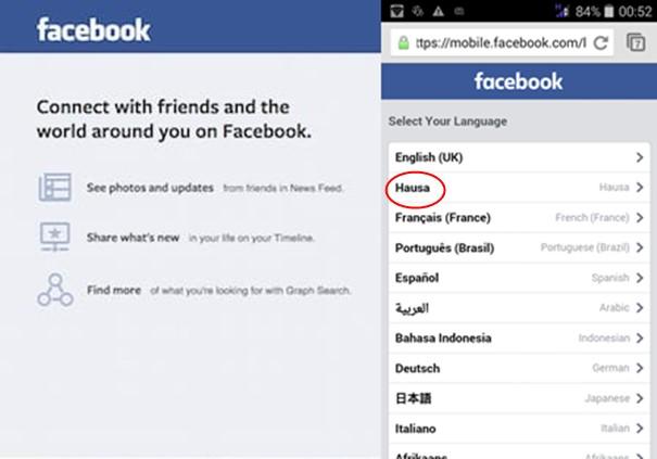 Afrique : Facebook lance une version en langue « hausa » de son site