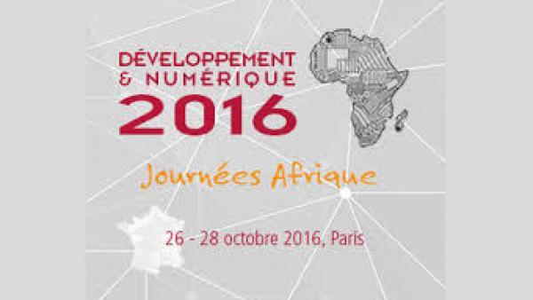 Les Journées « Afrique, Développement et Numérique » – les jeudi 27 et vendredi 28 octobre 2016