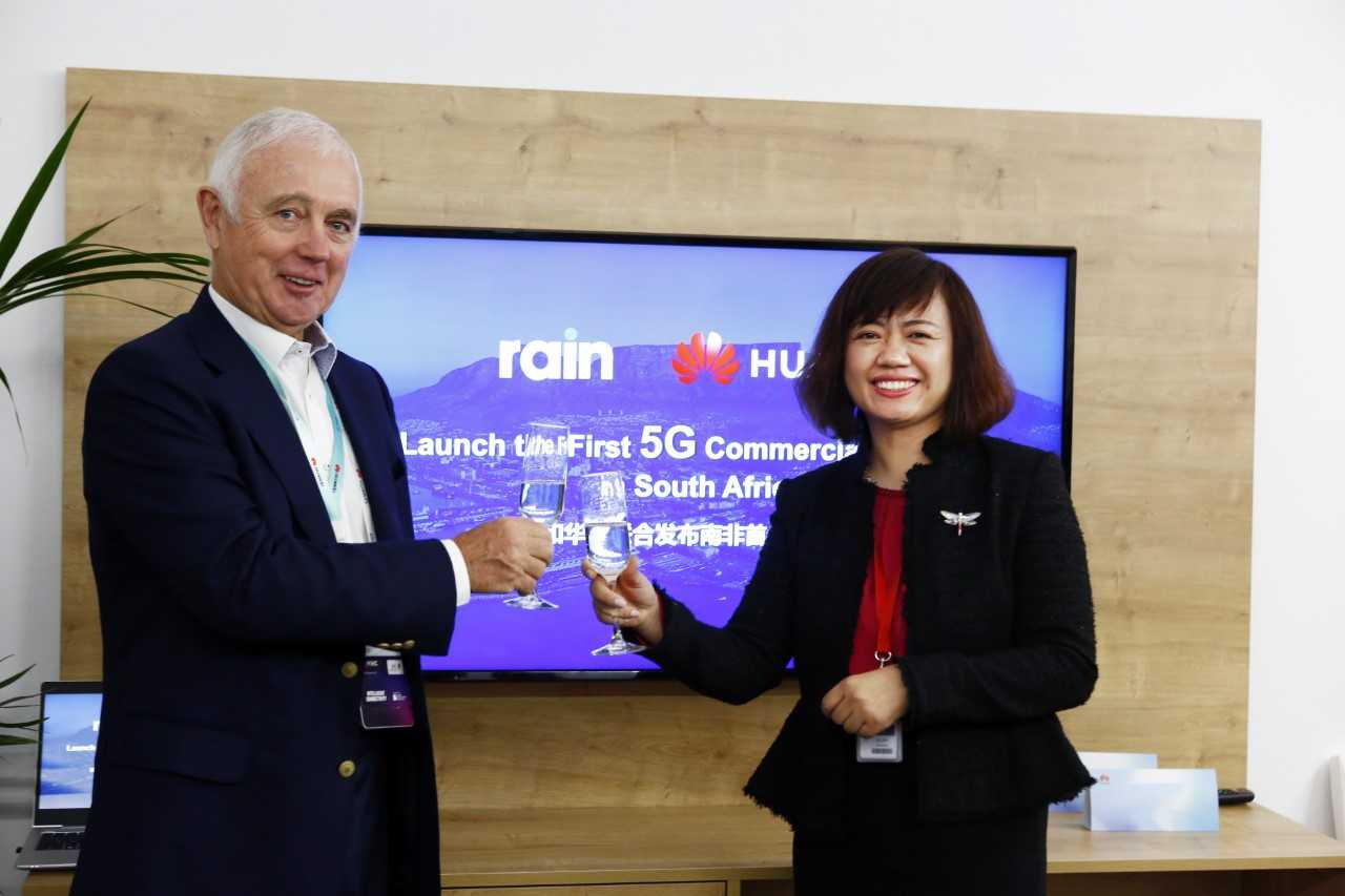 Rain et Huawei lancent le premier réseau commercial 5G en Afrique du Sud