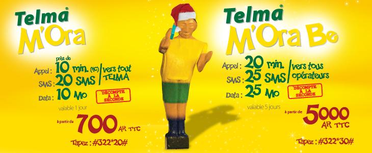 Madagascar: Telma- les premiers forfaits prépayés « TOUS OPERATEURS » pour Noël