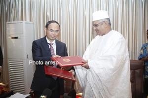 Mali: La Chine et le Mali signent un accord de prêt de 39 milliards de F CFA pour l'installation de la fibre optique